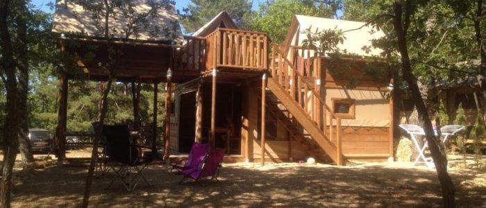 Cabane Lodge camping verdon familial locatif