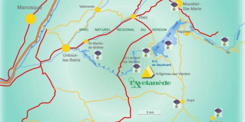 Verdon plan camping Avelanede